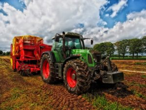 an agricultural tractor